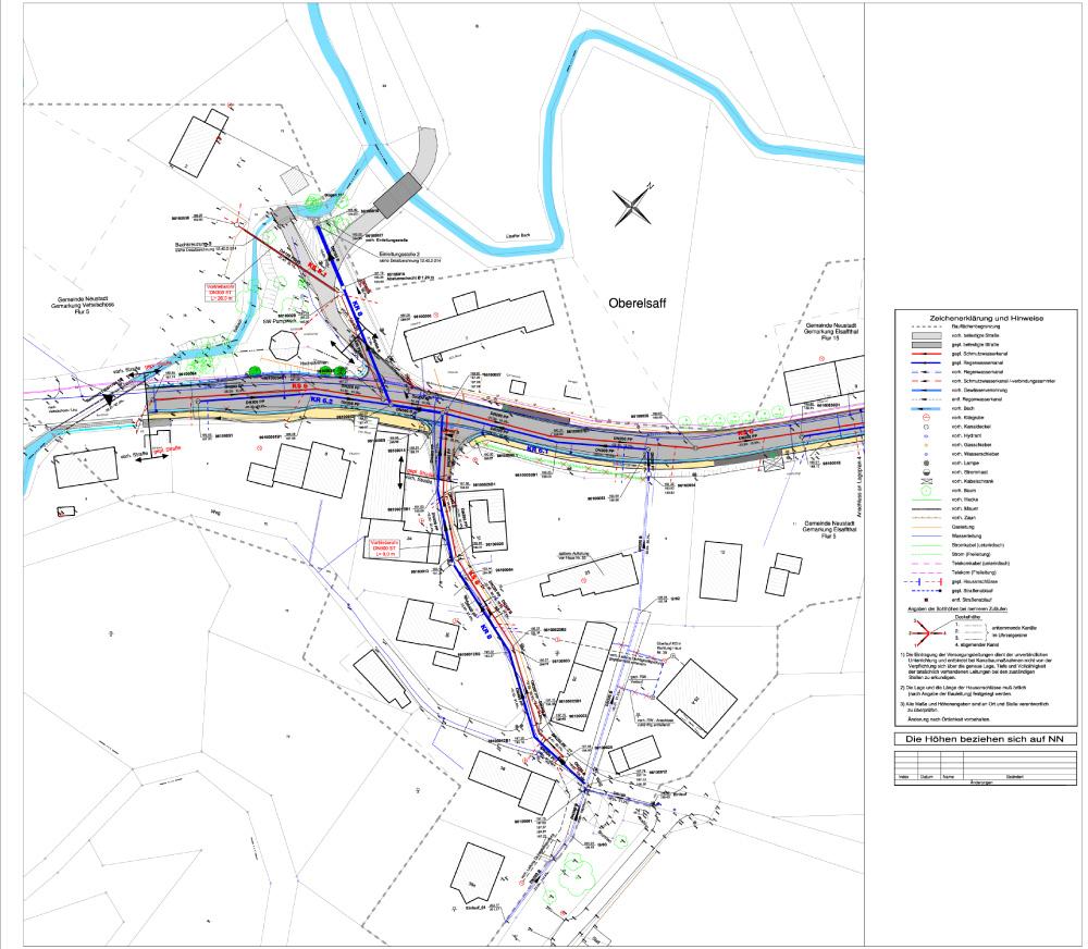 BV Ortskanalisation Mittelelsaff und Oberelsaff -  Bestandsvermessung Kanal